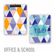 Clipboards for the office or playing field are hot items even in this age of electronics. Personalize the front, back, or both sides with photos, artwork, company logo, or team mascot.
