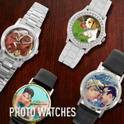 Customize a photo watch with your favorite photos, company logo, or text. Design and personalize your timepiece.
