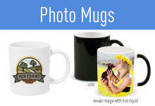 Add your photos, artwork, or logos to any of our custom photo drink ware.